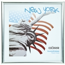 Dorr 4x4-Inch Square New York Silver Photo Frame