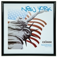 Dorr 5x5-Inch Square New York Black Photo Frame