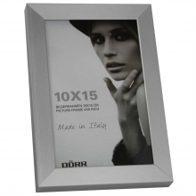 Dorr 6x4-Inch Signa Brushed Aluminium Silver Photo Frame