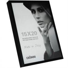 Dorr 8x6-Inch Signa Brushed Aluminium Black Photo Frame
