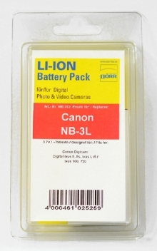 Dorr NB-3L Lithium Ion Battery For Canon Cameras