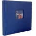 Dorr Window Blue Traditional Photo Album - 100 Sides