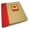 Dorr Green Earth Red Heart 7x5 Slip In Photo Album - 200 Photos