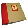 Dorr Green Earth Red Flower 7x5 Slip In Photo Album - 200 Photos