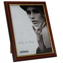 Dorr Tessin Mahogany and Gold Wood 8x6 Photo Frame