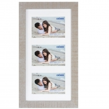 Dorr Indiana Horizontal Beige Gallery Frame for 3 6x4 Photos