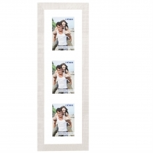 Dorr Indiana Vertical White Gallery Frame for 3 6x4 Photos