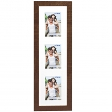 Dorr Indiana Vertical Brown Gallery Frame for 3 6x4 Photos