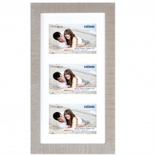 Dorr Indiana Horizontal Beige Gallery Frame for 3 7x5 Photos