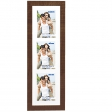 Dorr Indiana Vertical Brown Gallery Frame for 3 7x5 Photos