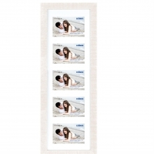 Dorr Indiana Horizontal White Gallery Frame for 5 7x5 Photos