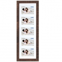 Dorr Indiana Horizontal Brown Gallery Frame for 5 7x5 Photos