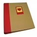 Dorr Green Earth Red Heart Traditional Photo Album - 100 Sides