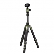 Dorr HQ1315 5 Section Black/Green Aluminium Tripod With Ball Head