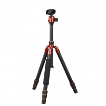 Dorr HQ1635 4 Section Black/Red Carbon Fibre Tripod With Ball Head