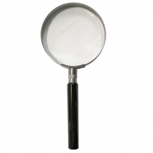 Dorr Large Metal Hand Held Magnifier 2.5X Magnification