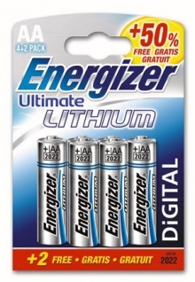 energizer ultimate lithium aa pack 4 batteries. Black Bedroom Furniture Sets. Home Design Ideas