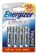Energizer Ultimate Lithium AA Pack (4 batteries)