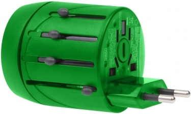 Fujifilm World Travel Adapter with Single USB 1000mA Charger - Green