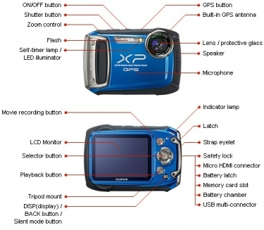 FujiFilm FinePix XP150 GPS Digital Camera Blue