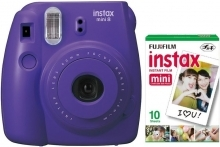 Fujifilm Instax Mini 8 Grape Instant Camera Inc 10 Shots