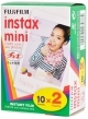 Fujifilm Instax Mini Credit Card Size Photo Film 10 Sheets x2 Pack