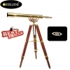 Helios 28x Fine Brass 8040 Traditional Telescope