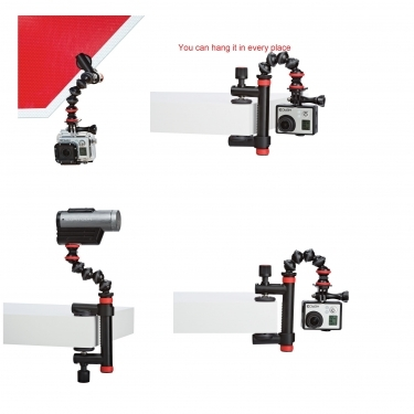 Joby Action Clamp & Gorillapod Arm Black/Red