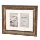 Kenro 6x4-Inch / 10x15cm Bergamo Rustic Brown 2-Photos Frame