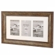 Kenro 6x4-Inch / 10x15cm Bergamo Rustic Brown 3-Photos Frame