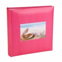 Kenro 6x4 Inch Cerise Mother of Pearl Holiday Memo Album 200