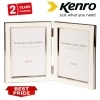 Kenro 6x4 Inch Twin Whisper Classic Photo Frame - White