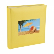 Kenro 6x4 Inch Sunshine Yellow Shell Holiday Memo Album 200