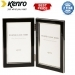 Kenro 7x5 Inch Twin Whisper Classic Photo Frame - Black