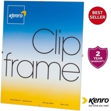 Kenro 8x12-Inch Glass Fronted Clip Frame
