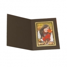 Kenro 8x6 Portrait Slip In Photo Folders Brown - Pack Of 10