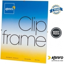 Kenro 9.5x12-Inch Glass Fronted Clip Frame
