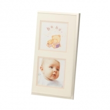 Kenro Baby Girl Frame for 2 photos 3.25x3.25-Inch - Pink