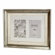 Kenro Bergamo Antique Silver Series 2 Photos 6x4-Inch / 10x15cm Frame