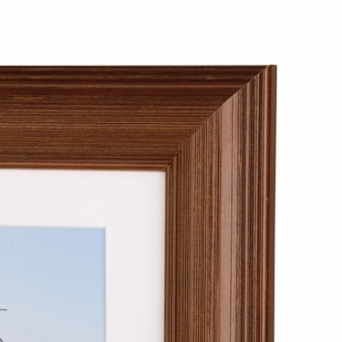 Kenro Rocco Frame 8x6 Inch With Mat 7x5 Inch - Brown