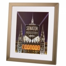 Kenro Senator 8x12-Inch With 8x10-Inch Mat Photo Steel Grey Frame