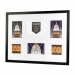 Kenro Senator White Collage Frame With Mat For 6 Photos