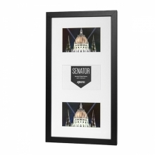 Kenro Senator Black Triple Frame With Mat For 3 7x5-Inch Photos