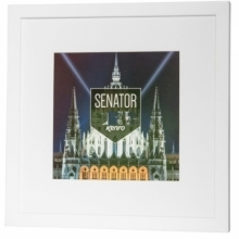 Kenro Senator White Square Frame 8x8-Inch With 6x6-Inch Mat