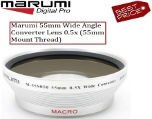 Marumi 55mm Wide Angle Converter Lens 0.5x (55mm Mount Thread)