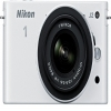 Nikon 1 Mirrorless J2 Digital Camera With 10-30mm VR Zoom Lens White