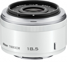 Nikon 1 Nikkor 18.5mm f/1.8 Lens For CX Format White