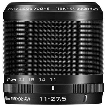 Nikon 1 Nikkor AW 11-27.5mm F3.5-5.6 AF Lens Black