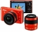 Nikon 1 Digital Camera J2 With 10-30mm and 30-110mm Lenses Orange