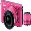 Nikon 1 Digital Camera J2 With 10-30mm and 30-110mm Lenses Pink